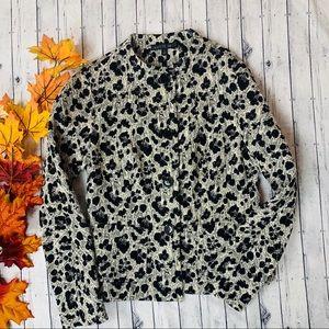 Lafayette 148 Animal Leopard Print Blazer